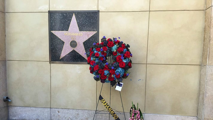 Muhammad Ali's star on the Hollywood Walk of Fame