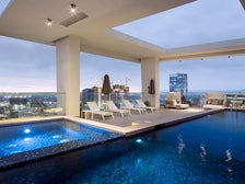 Rooftop pool at LEVEL DTLA