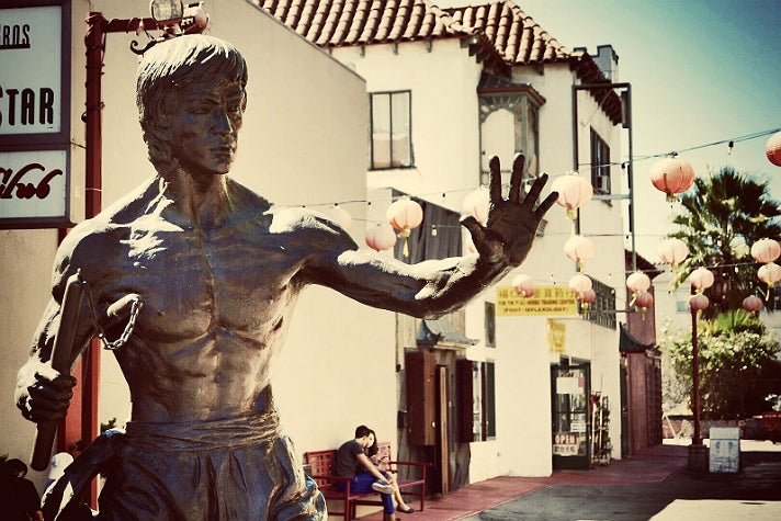 Bruce Lee statue in Chinatown