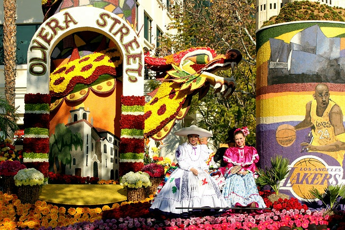 City of Los Angeles float in the 2014 Rose Parade