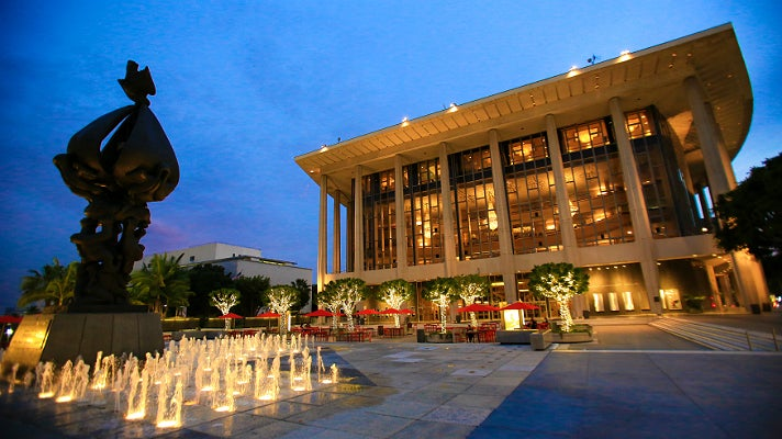 Dorothy Chandler Pavilion at night