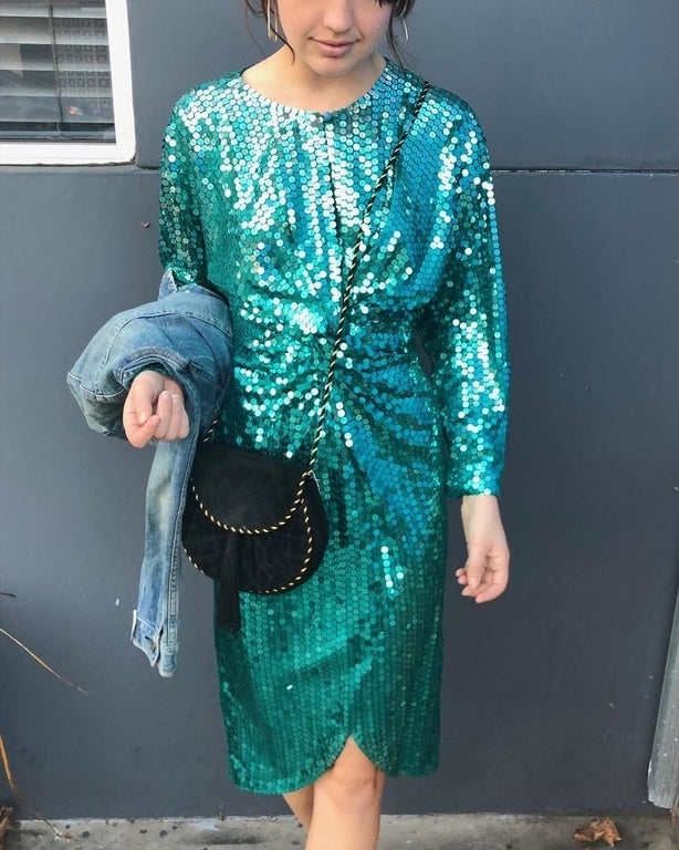 Sequin dress at The Left Bank in Atwater Village