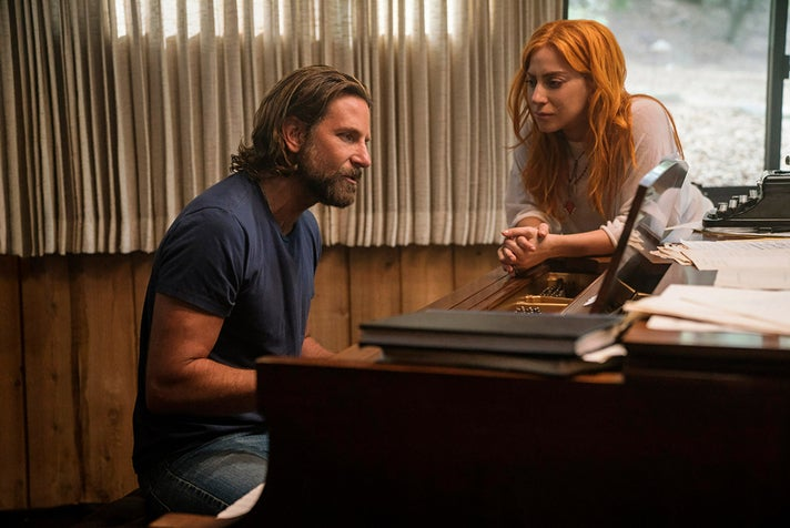 """Bradley Cooper and Lady Gaga in """"A Star Is Born"""""""