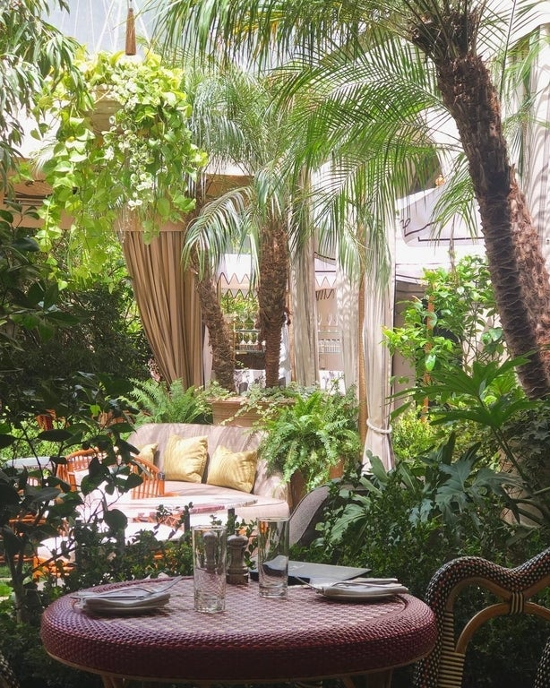 Garden Terrace at the Chateau Marmont