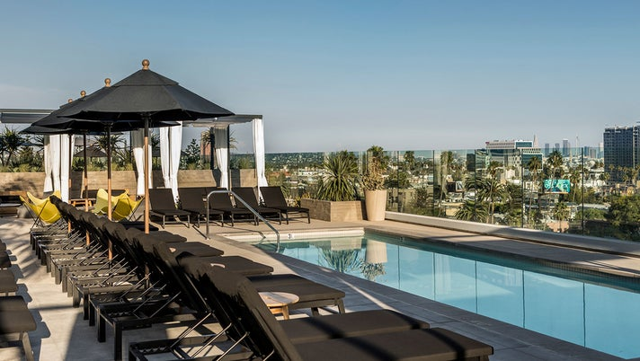 Rooftop pool at the Kimpton Everly Hollywood