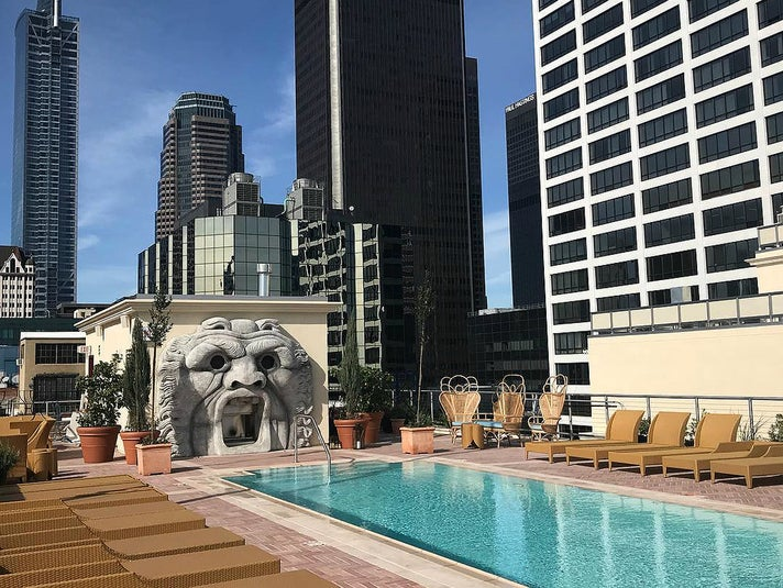 Rooftop pool at the NoMad Los Angeles