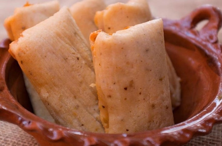 Tamales at La Mascota Bakery