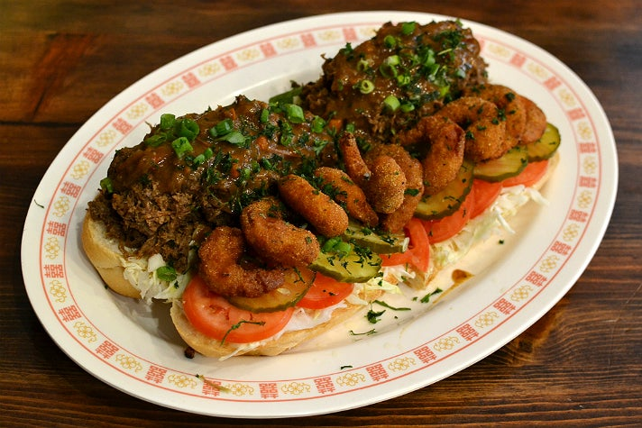 Surf and Turf Po'boy at The Little Jewel of New Orleans