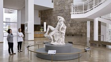 """""""The Sleeping Faun"""" by Edme Bouchardon, on view at Getty Center"""