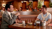 "Don Draper and Pete Campbell at Canter's Deli in the ""Mad Men"" Season 7 premiere"