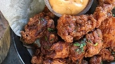 Spanish fried chicken at a.o.c.