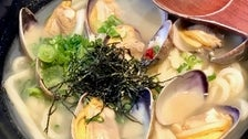 Vongole Udon at Marugame Monzo in Little Tokyo