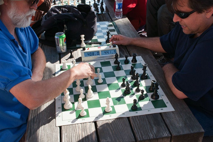 Chess Park at Santa Monica Pier