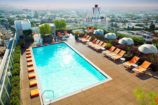 Andaz West Hollywood Pool Deck