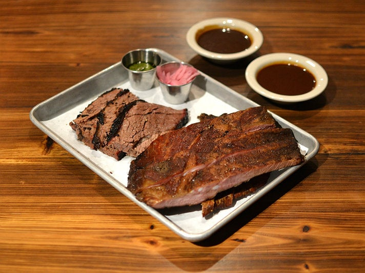 Brisket and ribs at Maple Block Meat Co.