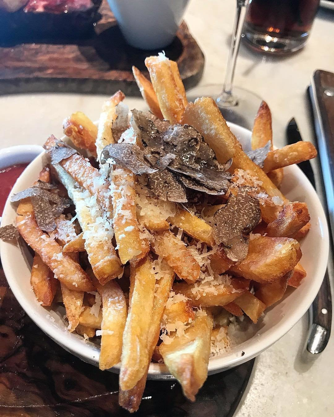 Truffle pomme frites at Wally's Beverly Hills